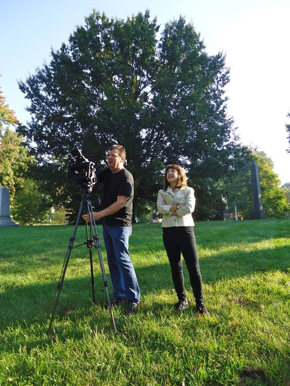 Andrea Torrice filming